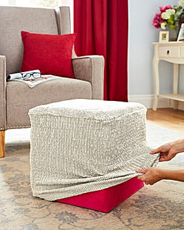 2 Way Stretch Pouffe Cover