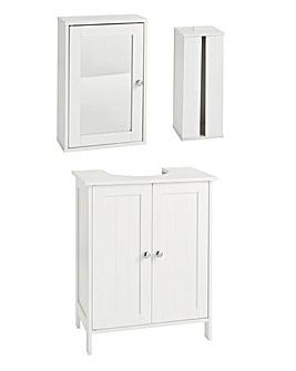 Atlas 3 Piece Bathroom Furniture Set