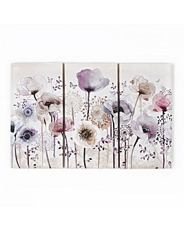 Art for the Home Classic poppy Trio Printed Canvas
