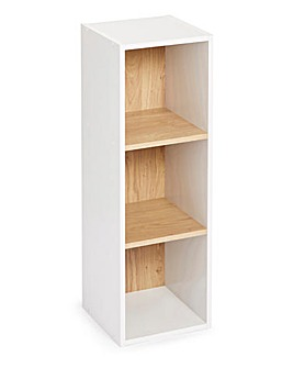 Two Tone Cube Shelves - 3 Cube Unit