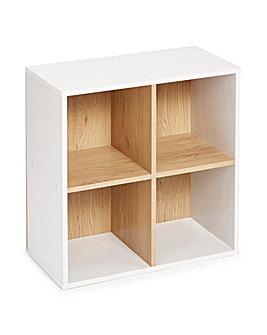 Two Tone Cube Shelves - 4 Cube Unit