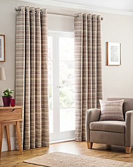 Carnival Woven Eyelet Curtains