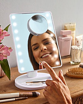 Magnifying Touch Lit Mirror