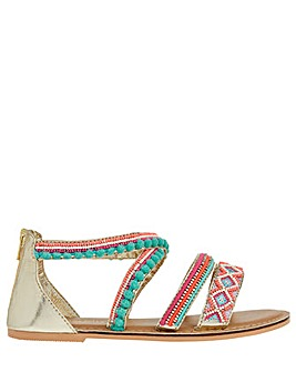 Monsoon Nadia Beaded Pom Pom Sandal