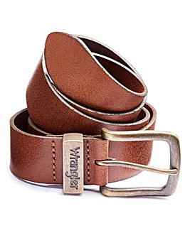 Wrangler Metal Loop Cognac Tan Belt