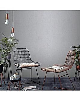 Superfresco Easy Grey Calico Plain Wallpaper