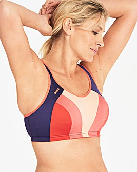 Shock Absorber Pink/Blue Multi Sports Bra