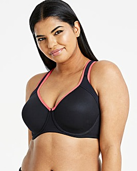 Dorina Curves Sonoma Black/Red Sport Bra