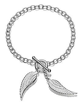Sterling Silver Angel Wings Bracelet