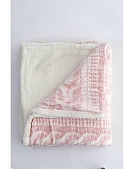 cascade home printed knit throw