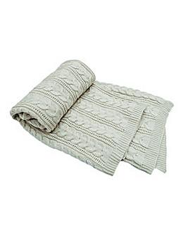 cascade home chunky knit throw