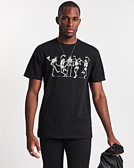 The Bone Shakers Placement Print T-shirt