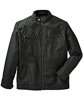 Black Nylon Harrington Jacket