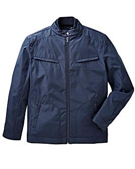 Navy Nylon Harrington Jacket