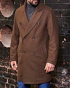 Brown Military Wool Coat R