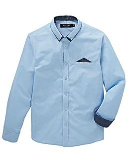 Blue Stretch Pocket Shirt L