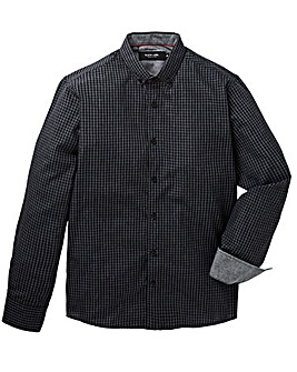 Black Label Check Shirt Long