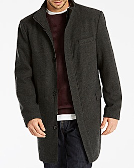 Jacamo Black Label Wool Funnel Coat R