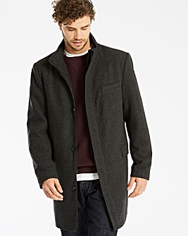 Jacamo Black Label Wool Funnel Coat R