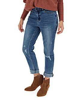 Fern Stonewash Slim Boyfriend Jeans
