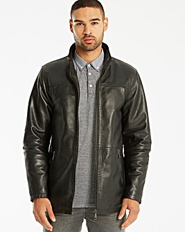 Jacamo Black Label Leather Jacket L