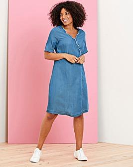 Soft Tencel Denim Wrap Dress