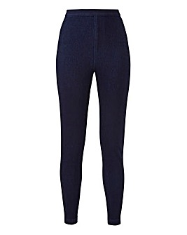 Jersey Denim High Waist Leggings