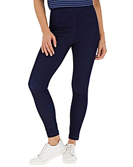 Indigo Jersey Denim High Waist Leggings
