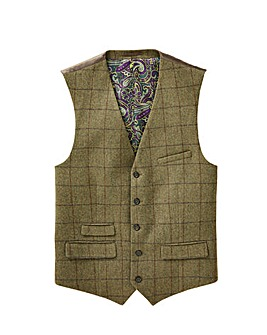 Black Label Checked Wool Waistcoat