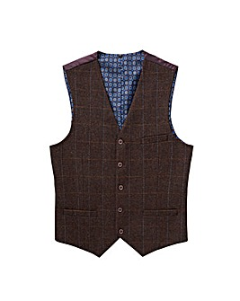 Jacamo Black Label Herringbone Waistcoat