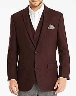 Jacamo Tweed Wool Blazer Long