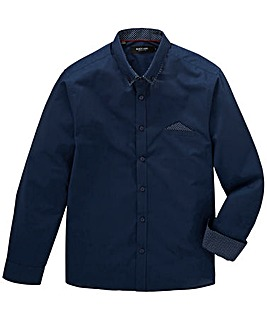 Navy Pocket Square Shirt R