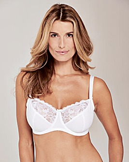 Pretty Secrets Ivy Lace Basic White Balcony Bra