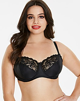 Pretty Secrets Ivy Lace Basic Black Balcony Bra