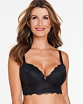 Pretty Secrets Ella Lace Black Ultimate Boost Plunge Bra