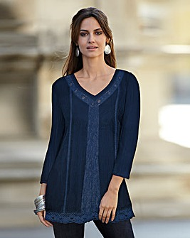 Together Lace Trim Tunic