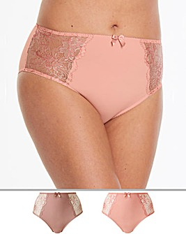 2Pack Ella Lace Mink/Peach Briefs