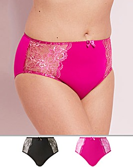 2 Pack Ella Lace Smoke/Cherry Briefs