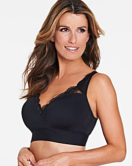 Pretty Secrets Ella Lace Black Moulded Lounge Bra