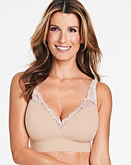 Pretty Secrets Ella Lace Blush Moulded Lounge Bra