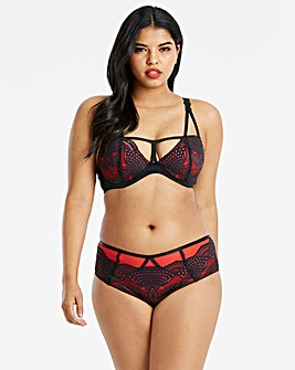 Amy Lace Black/Red Balcony Bra