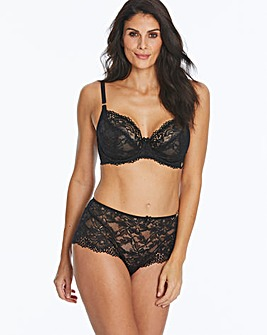 Joanna Hope Black 2 Tone Lace Under Wired Non Padded Full Cup Bra