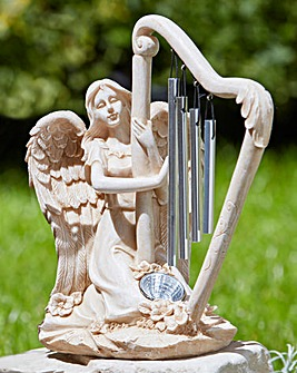 Angel & Harp Solar Chime