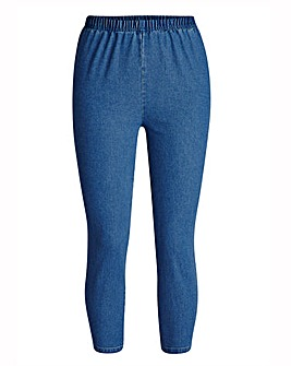 Blue Crop Jeggings Short Length