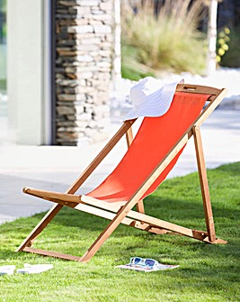 Riva Wooden deck chair Orange
