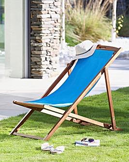 Riva Wooden deck chair Blue