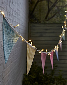 NOMA Solar Village Bunting String Lights