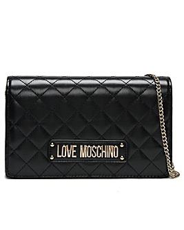 Love Moschino Quilted Badge Cross-Body