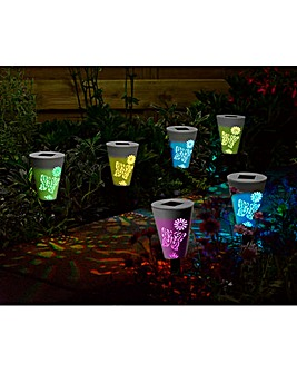 6 Pack Silhouette Butterfly Stake Lights