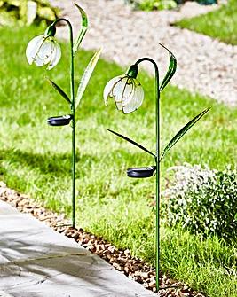 Smart Garden Pack of 2 Solar Snowdrops